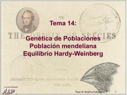 Tema 17: Genética Poblaciones I