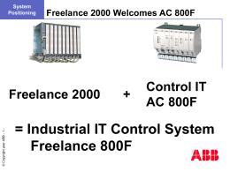 Control IT AC 800F - Nyíregyházi Főiskola