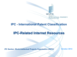 IPC-Related Internet Resources