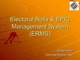 Electoral Roll Data Entry & Computerization of