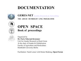 PowerPoint-Präsentation - Open-Space geres-net