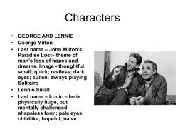 Characters - Yourhomework
