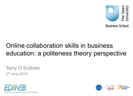 Online collaboration skills in business education: