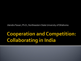Cooperation and Competition in Education: INDIA