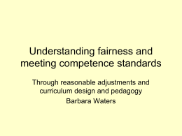 Understanding fairness and meeting competence