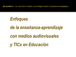 Diapositiva 1 - Medios Audiovisuales y TICs |