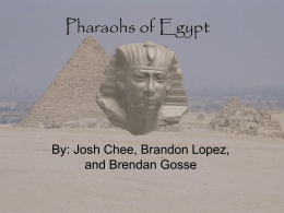 Pharaohs of Egypt - Pages