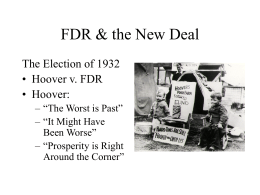 FDR & the New Deal - Saint Ignatius High School