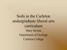 Soils in the undergraduate liberal