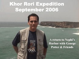 Khor Rori Expedition September 2006