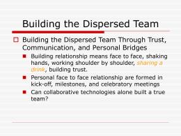 Building the Dispersed Team