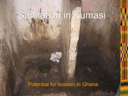 Sanitation in Kumasi