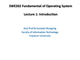 SWE202 Operating System Concep