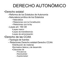 DERECHO AUTONÓMICO