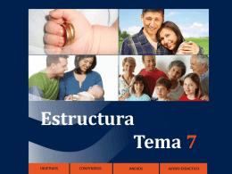 Estructura Tema 7 - Formación en la Fe