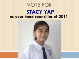 Vote for Stacy Yap Ying Qi