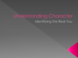 The Concept of Character