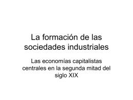 La formación de las sociedades industriales