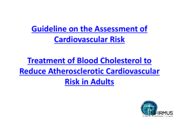 Guideline on the Assessment of Cardiovascular Risk