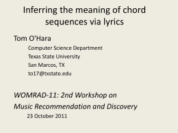 Inferring the meaning of chord sequences via