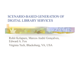 SCENARIO-BASED GENERATION OF DIGITAL LIBRARY