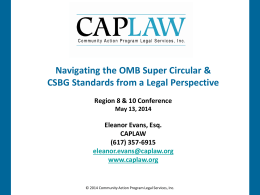 OMB Super Circular & CSBG Standards with Eleanor