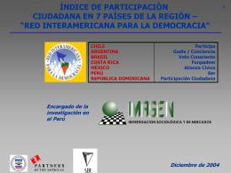 """PRESENTACION INDICE DE PARTICIPACION EN CHILE"""""""