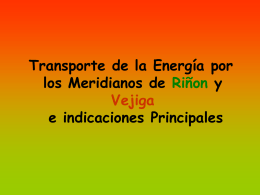 Transporte de la energía por los Meridianos de