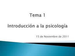 Tema 1 Introducción a la psicología