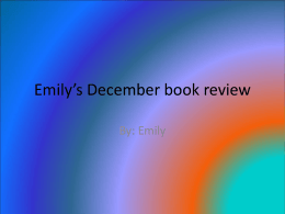 Emily's December book review