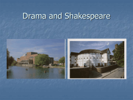 Drama and Shakespeare - Manchester High School