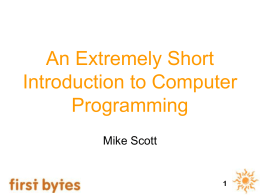 An Extremely Short Introduction to Computer