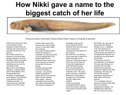 How Nikki gave a name to the biggest catch of her