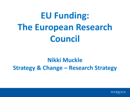 EU Funding: The European Research Council Nikki