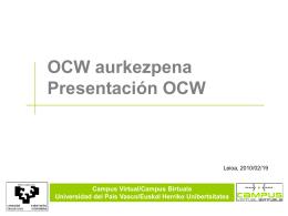 OCW 2010