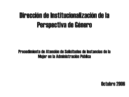 Dirección de Institucionalización de la