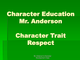 Character Education Respect