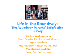 Parent to Parent: The Roundway User Satisfaction