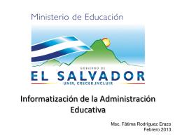 Informatización de la Administración Educativa