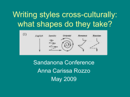 Writing styles cross-culturally: what shapes do