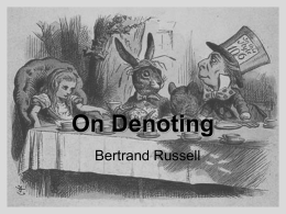 On Denoting - University of San Diego