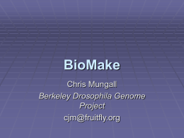 BioMake - SourceForge
