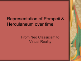Representation of Pompeii & Herculaneum over time