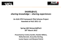SHARE@UCL