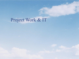 IT in Project Work