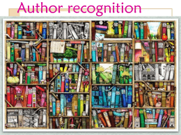 Author recognition
