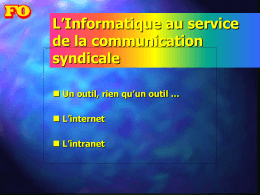 A : comprendre Internet et Intranet : description