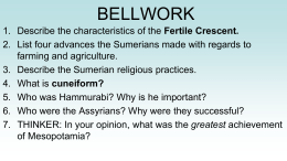 BELLWORK - Ms. Bruggeman`s History