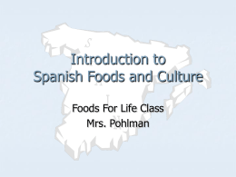 PowerPoint Presentation - Introduction to Spanish