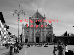 The Origin of English Language